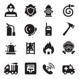 Fire Department icons  Vector Illustration Royalty Free Stock Photography