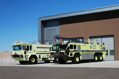 FIRE DEPARTMENT. Laughlin Bullhead City Arizona Airport fire department fire engines royalty free stock photography