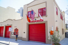 Fire Department museum in San Diego - SAN DIEGO - CALIFORNIA - APRIL 21, 2017 stock images