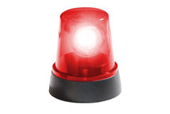 Fire department, red light isolated Royalty Free Stock Images