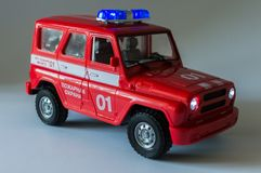 Fire Department. Toy car. Fire Department. Ukraine royalty free stock image