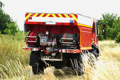 Fire department. Training in france royalty free stock photos