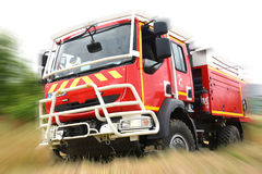 Fire department. Training in france royalty free stock photography