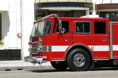 Fire department truck. In Beverly Hills, L.A., California stock photos