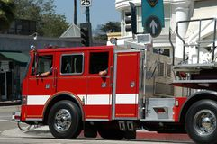 Fire department truck. In Beverly Hills, L.A., California stock image