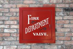 Fire department valve cover Royalty Free Stock Photo