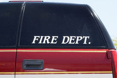 Fire Department Vehicle.  Stock Photography