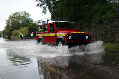 Fire dept 4x4 stock photography