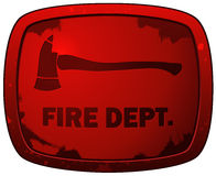 Fire Dept Red Grunge Plate Sign. Stock Photography