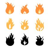 Fire design elements. Fire icon set - vector fires design element collection Stock Photo