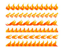 Fire design elements vector set. On white background Stock Photography