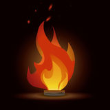 Fire design. Over red  wine background vector illustration Royalty Free Stock Photos