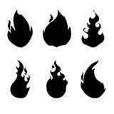 Fire design. Over white background vector illustration Stock Image