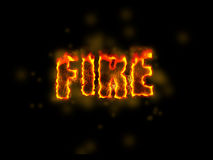 Fire design. Fire text design wallpaper theme royalty free stock photo