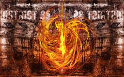 Fire devil. A large fire devil is in action Stock Photos