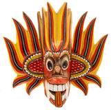 Fire devil mask Stock Photo