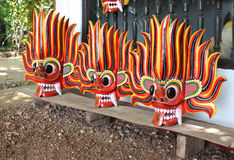 Fire Devil mask Stock Images
