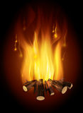 Fire digital design. Fire digital design, vector illustration eps 10 Royalty Free Stock Photography