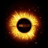 Fire digital design. Fire digital design, vector illustration eps 10 Stock Images