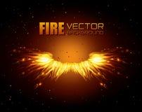 Fire digital design. Fire digital design, vector illustration eps 10 Royalty Free Stock Image