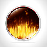 Fire digital design. Royalty Free Stock Photography