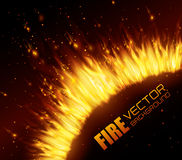 Fire digital design. Royalty Free Stock Photos