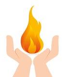 Fire digital design. Fire digital design, vector illustration eps 10 Royalty Free Stock Photo
