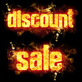 Fire Text Discount Sale Royalty Free Stock Photos
