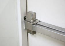 Fire doors., Fire exit., Open one way door. Royalty Free Stock Photo