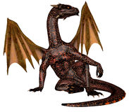Fire dragon Stock Photography