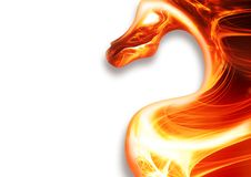 Fire dragon. Abstract fire dragon on a white background Vector Illustration