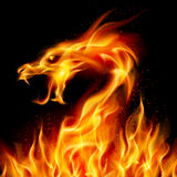 Fire Dragon. Abstract fiery dragon. Illustration number two on black background for design Royalty Free Illustration