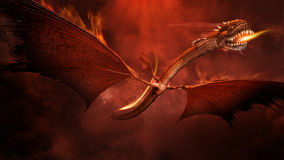 Fire Dragon Royalty Free Stock Images