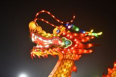 A Fire Dragon. A picture of a massive Chinese lantern of Fire Dragon stock photography