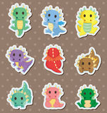 Fire dragon stickers Royalty Free Stock Photos
