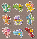 Fire dragon stickers Stock Photography