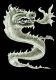 Fire dragon symbol graphic illustration Stock Photo