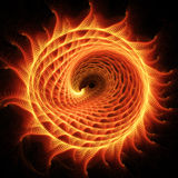Fire dragon wheel. Abstract chaos fire dragon rays on dark background Stock Illustration