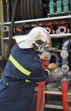 Fire drill Stock Photo