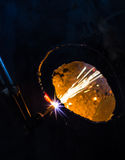 Fire drill steel Royalty Free Stock Photos