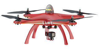 Fire Drone quadrocopter Stock Photography