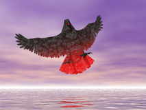 Fire Eagle. Rendered surreal fire eagle Royalty Free Stock Photo