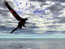 Fire Eagle Storm. Fire eagle in an approaching storm Royalty Free Stock Photography