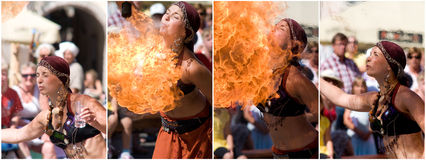Fire Eater Royalty Free Stock Photos