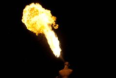 Fire-eater performance Royalty Free Stock Photo
