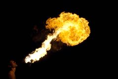 Fire-eater performance Royalty Free Stock Photos