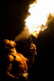 Fire eater, Tunisia Royalty Free Stock Images