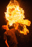 Fire Eaters. Durning carnival in Poland Stock Photos