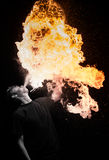 Fire Eaters. Durning carnival in Poland Royalty Free Stock Image