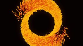 Fire effect animation for your logo. Abstract animation of fire burst.  stock video